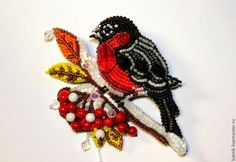 Beaded brooch by Lubov Loom Patterns, Beading Patterns, Beaded Brooch, Beaded Jewelry, Art Perle, Custom Jewelry Design, Beaded Animals, Beading Projects, Embroidery Techniques