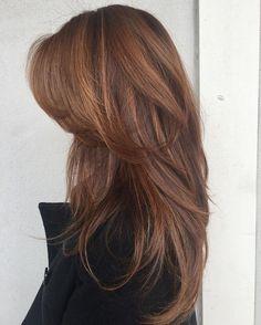 Pretty Hairstyles, Straight Hairstyles, Hairstyle Ideas, Elegant Hairstyles, Medium To Long Hairstyles, U Cut Hairstyle, Haircuts For Long Hair With Layers, Fringe Hairstyle, Medium Hair Styles