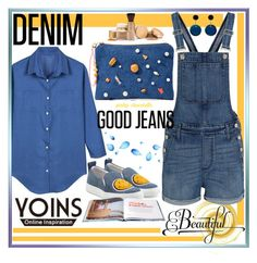 """""""Double Down on Denim: 05/05/16"""" by pinky-chocolatte ❤ liked on Polyvore featuring Madewell, Joshua's, Venessa Arizaga, Marni and Emilio Pucci"""