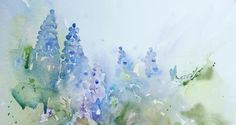 Watercolours With Life: Muscari in Watercolour 2011