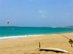 The Windsurfing Beach in front of the RIU Karamboa, Cape Verde