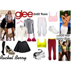 """""""Rachel Berry (Glee) : ...Baby One More Time"""" by aure26 on Polyvore"""