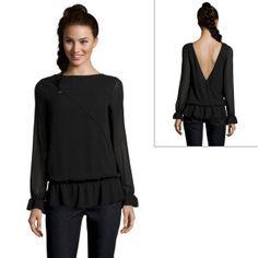 Mangano black blouse