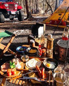 Good Morning ! #キャンプ #アウトドア #キャンプ飯 #焚火 #ジープ #camp #camping #outdoorcooking #outdoors #outdoor ...