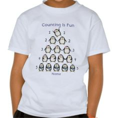 Personalized Counting Is Fun, I Love Math Tshirt by www.learningcandy.com #inspirationalquotes #motivational #positiveattitude #gift #kids #math