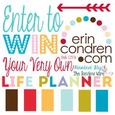 Enter this @erincondren Life Planner #Giveaway in the Holiday HOHOHO Hop with over 40 blogs all offering Christmas Giveaways! Ends 12/5/14 #RWMevent