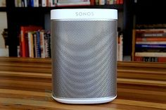 Sonos presents Play:1, a pint-sized wireless streaming speaker...this. I'm getting this next fall for my bathroom in white/gray. I have the Play:5 in my living room and the Play:3 in my bedroom. Love #Sonos products!