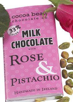 Chocolate Bar #milkchocolate #skelligschocolate #rose #pistachio #handmadechocolate
