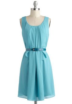 Turquoise about Town Dress ($51.99) - Saw this color dress on a girl at a baby shower the other day; would be perfect for such occasions or casual wear. #ModCloth #2013Fashion