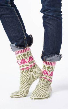 Nordic Yarns and Design since 1928 Crochet Socks, Knit Mittens, Knit Or Crochet, Knitting Socks, Hand Knitting, Knitting Patterns, Crochet Patterns, Slipper Socks, Slippers