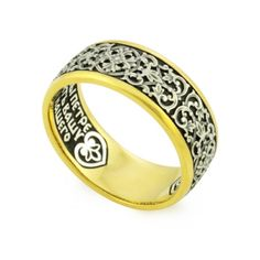 Заказать Православное кольцо с молитвой Петру и Февронии KLSP05 по приятной цене от ЮК 'Деревцов'