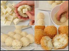 These Potato cheese balls are so yummy and everyone loves them, they are easy to make, they don't require many ingredients and you can add anything with them to vary the flavors, with no further here are the ingredients and… Potato Cheese Balls Recipe, Cheese Ball Recipes, Cheese Rice, Food Porn, Good Food, Yummy Food, Potato Dishes, Turkish Recipes, No Cook Meals