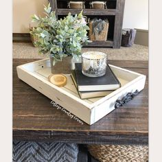 14 x 20 Magazine Tray - Coffee Table Tray - Magazine Tray - Coffee Table Tray - Rustic wooden ottoman tray - decorative tray - coffee table - comedor - Living Room Table Tray Styling, Coffee Table Styling, Diy Coffee Table, Decorating Coffee Tables, Coffee Coffee, Farmhouse Coffee Tables, Black Coffee, Coffee Drinks, Coffee Beans