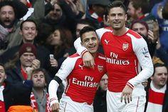 Giroud và Sanchez sẽ cùng nhau đá trung phong