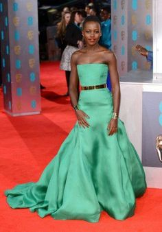 Who Was Best Dressed At The 2014 BAFTAs? Lupita nails it every time!!