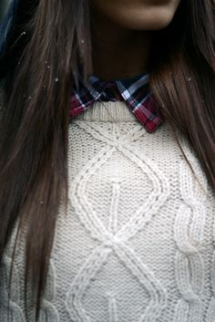 plaid and sweaters for winter