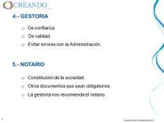 Gestoria y Notario de la presentación de www.creandowebconsulting.es