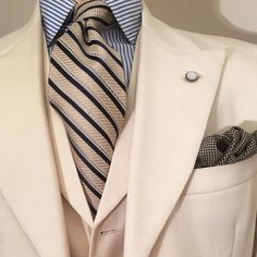 The cream 12oz woolen Bedford cord, a suit that I recommend post Labor Day. The…