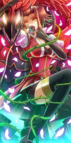 Akiza & black rose dragon