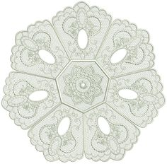Pollyanna Doily Embroidery Applique, Machine Embroidery, Embroidery Ideas, Lace Doilies, Art Pieces, Stitch, Sewing, Pattern, How To Make