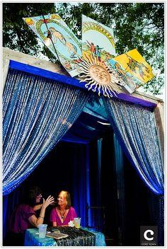 Fortune Teller! Tarot reading stall for parties.