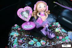 bolo decorado com a Violeta