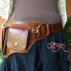 Leather Utility Belt Bag~ The Hipster - Travel Belt, Festival , Steampunk – Thai Artist Collective