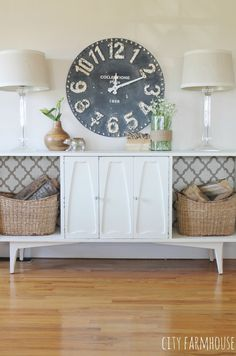Vintage Mod Makeover {City Farmhouse} Layering Vintage Items With New