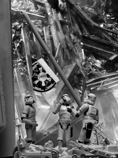 Troopers Raising The Flag At Ground Zero Is My Recreation Of The Infamous Image Raising The Flag At Ground Zero Taken Trooper Star Wars Star Wars Characters