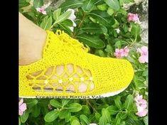 Aprender a tejer Alpargata crochet en Ganchillo( primera parte) - YouTube Crochet Shoes, Crochet Slippers, Crochet Diagram, Crochet Patterns, Trendy Womens Shoes, Crochet Accessories, Women Empowerment, Cole Haan, Crochet Bikini