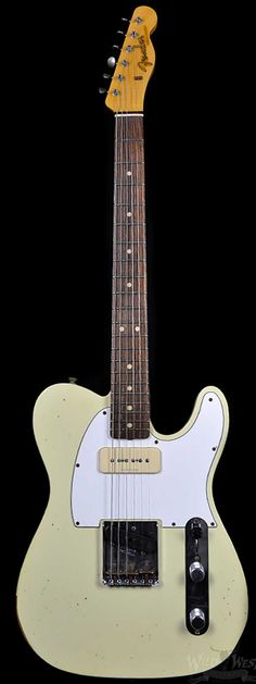 Fender 1963 P90 Telecaster Relic Faded Vintage White - Wild West Guitars