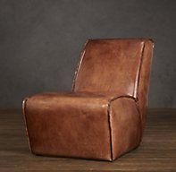 Bruno Lounge Chair Leather   Chairs   Restoration Hardware