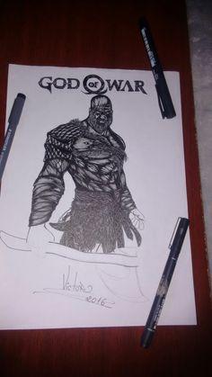 Desenho em andamento GOD OF WAR VIKING