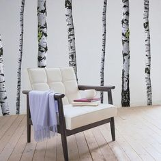 Super Real Birch Tree Wall Decals - I had a dream about these last night - they were on my living room/dining room wall and I had changed my drapes and curtain rods to go with them! I think they would look lovely with a light, spring green paint behind. Polka Dot Walls, Polka Dot Wall Decals, Striped Walls, Wall Stickers, Birch Tree Wall Decal, Tree Decals, Confetti Wall, Christen, Of Wallpaper