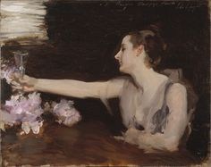 Madame Gautreau Drinking a Toast, 1882-83, John Singer Sargent, Oil on wood, 32 x 41 cm