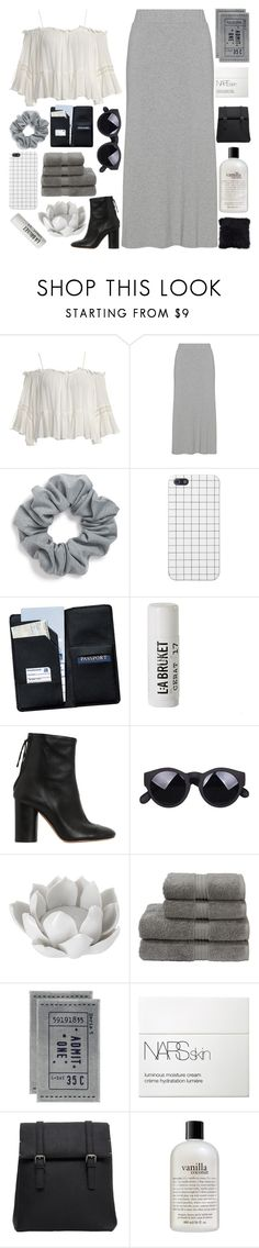 """""""breakdown"""" by h0ld-0n-let-g0 ❤ liked on Polyvore featuring Sans Souci, Natasha, Royce Leather, L:A Bruket, Isabel Marant, Pavilion Broadway, Christy, H&M, NARS Cosmetics and MANGO"""