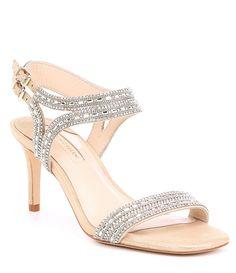 7e00e29ec480 Alex Marie Layona Jeweled Satin Dress Sandals  Dillards