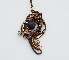 Wire Wrap Metallic Matte Agate Pendant Necklace Wire Wrap Artisan Jewelry #Jeanninehandmade #Wrap