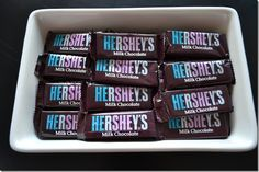 Snacks at a gender reveal party.  How cute! Reveal Parties, Party Gifts, Party Favors, Wedding Favors, Future Baby, New Baby Products, Gender Party, Baby Gender Reveal Party, Hershey Bar