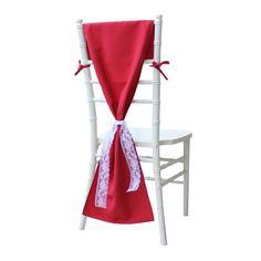 Red Chiavari Chair Hoods, Elegant Chiavari Chair Cover for Weddings   Wholesale Red Chair Covers