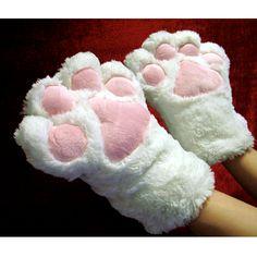 Costume Kitten Cat Paw Mitten Gloves