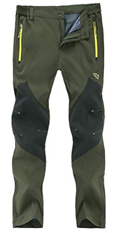 Buy Men's Outdoor Lightweight Quick Dry Slim Fit Hiking Camping Pants - Army Green - and Find More From Our Large Selection of Men's Activewear With Big Discount. Camping Pants, Best Hiking Pants, Best Hiking Shoes, Ski Pants, Hiking Boots, Hiking Gear, Camping Outfits, Outdoor Pants, Outdoor Outfit