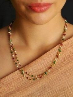 9 Cheap And Easy Cool Tips: Jewelry Accessories Indian jewelry necklace crystal. Gold Jewelry Simple, Coral Jewelry, Beaded Jewelry, Jewelry Necklaces, Beaded Necklace, Gold Necklace, Silver Jewelry, Silver Ring, Gold Choker