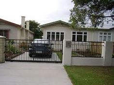 nz residential fencing - Google Search Driveway Gate, Fence, Aluminium Gates, Shed, Backyard, Outdoor Structures, Outdoor Decor, Google Search, Home Decor
