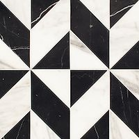 Lancaster Large, a hand-cut stone mosaic, shown in polished Calacatta Tia and Nero Marquina, is part of the Palazzo collection by New Ravenna. Floor Texture, Tiles Texture, Marble Texture, Floor Patterns, Mosaic Patterns, Textures Patterns, Stone Mosaic, Stone Tiles, Mosaic Tiles