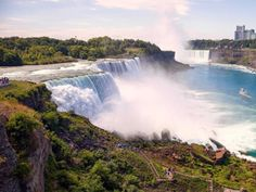 Marvel at Niagara Falls, where approximately 3,160 tons of water flows over the falls every second.