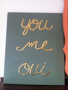 DIY thumbtack art - cute art for bedroom :)
