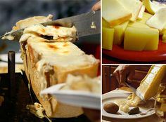 Raclette - swiss speciality of melted chees