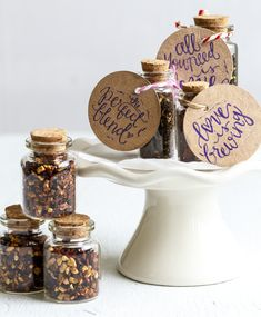 Wedding Favour - Tea or Spice in a Bottle