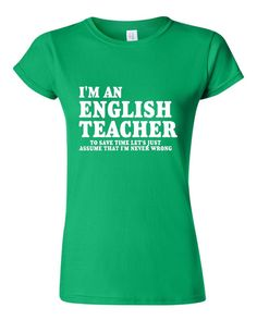 ad3814e96 26 best English Teacher T-shirts images | Funny tee shirts, Book ...